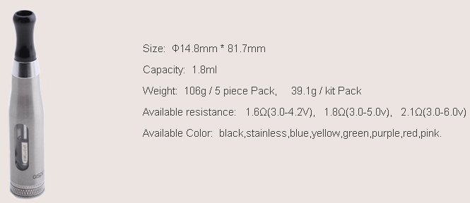aSpire CE5-S BVC Clearomizer 1,8ohm 1,8ml Black