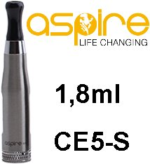aSpire CE5-S BVC Clearomizer 1,8ohm 1,8ml Silver
