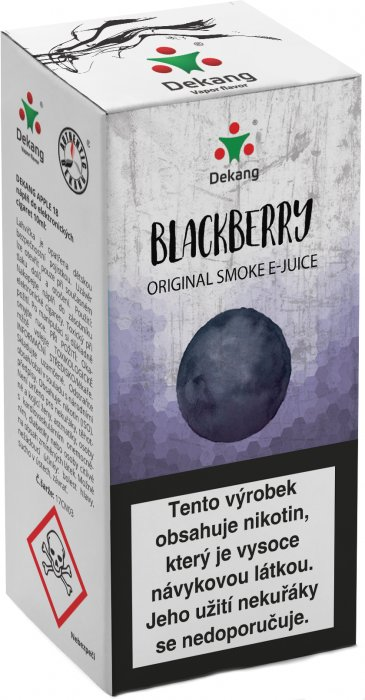 Liquid Dekang Blackberry 10ml - 3mg (Ostružina)