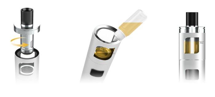 aSpire PockeX AIO elektronická cigareta 1500mAh Stainless Steel