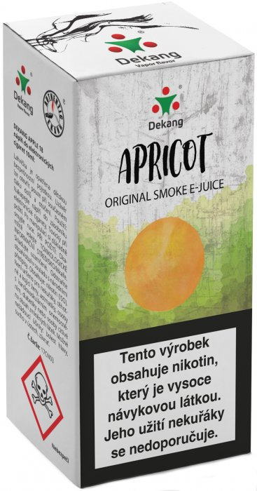 Liquid Dekang Apricot 10ml - 18mg (Meruňka)