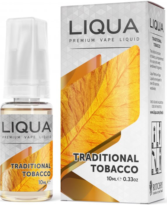 Liquid LIQUA SK Elements Traditional Tobacco 10ml-0mg (Tradiční tabák)