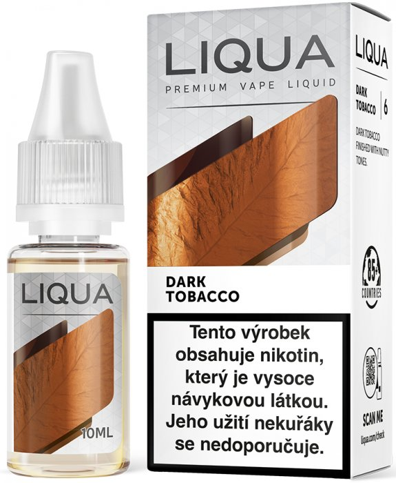 Liquid LIQUA CZ Elements Dark Tobacco 10ml-6mg (Silný tabák)