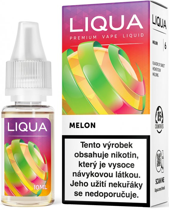 Liquid LIQUA CZ Elements Melon 10ml-6mg (Žlutý meloun)