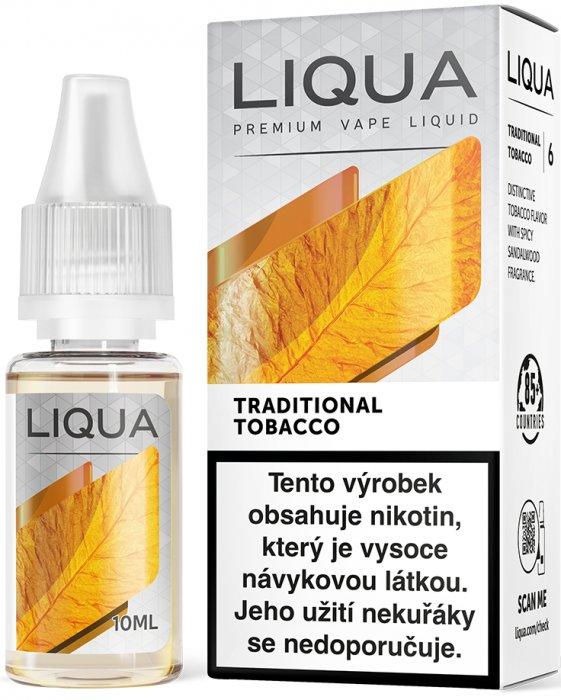 Liquid LIQUA CZ Elements Traditional Tobacco 10ml-18mg (Tradiční tabák)