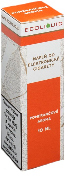 Liquid Ecoliquid Orange 10ml - 20mg (Pomeranč)