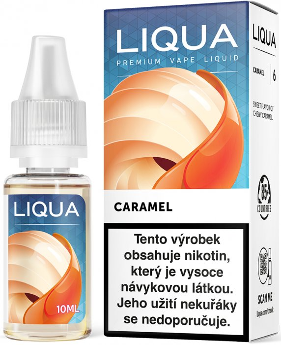 Liquid LIQUA CZ Elements Caramel 10ml-0mg (Karamel)