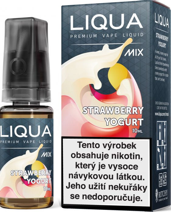 Liquid LIQUA CZ MIX Strawberry Yogurt 10ml-18mg
