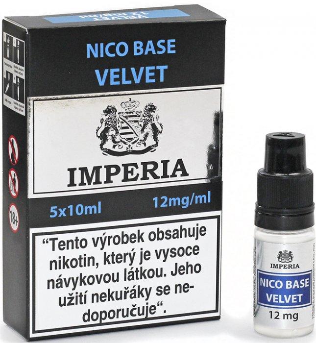 Nikotinová báze CZ IMPERIA Velvet 5x10ml PG20-VG80 12mg