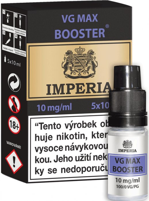 VG Max Booster CZ IMPERIA 5x10ml VG100 10mg