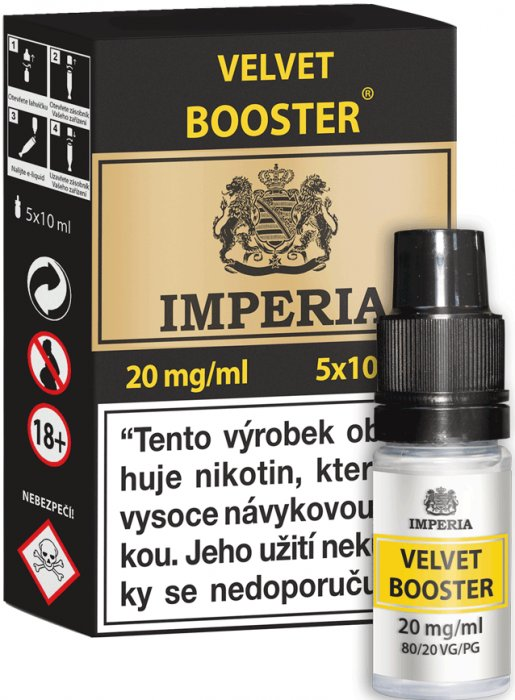Velvet  Booster CZ IMPERIA 5x10ml PG20-VG80 20mg