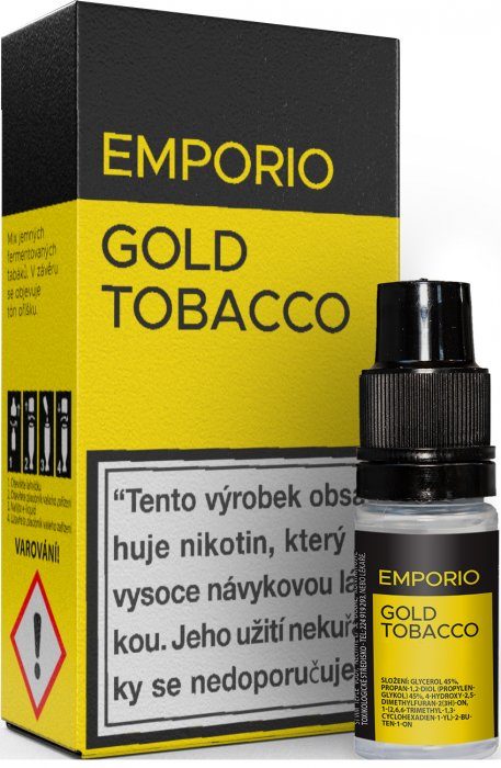 Liquid EMPORIO Gold Tobacco 10ml - 9mg
