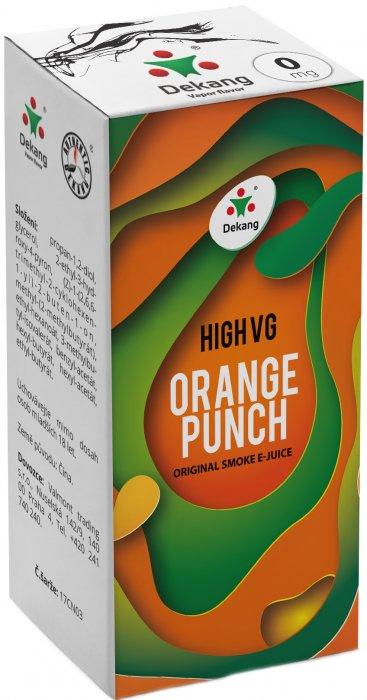 Liquid Dekang High VG Orange Punch 10ml - 0mg (Sladký pomeranč)