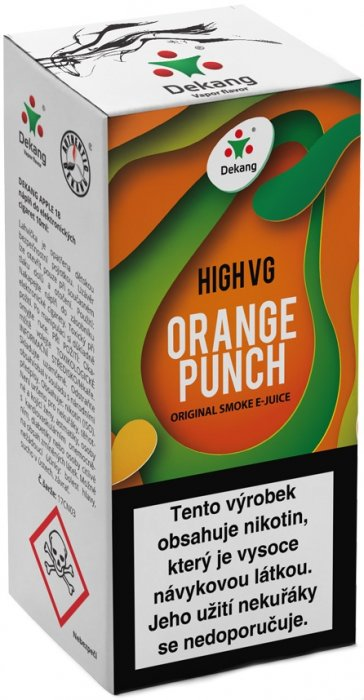 Liquid Dekang High VG Orange Punch 10ml - 1,5mg (Sladký pomeranč)