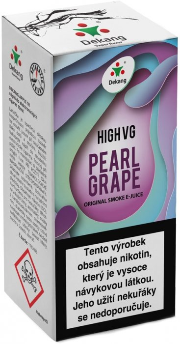 Liquid Dekang High VG Pearl Grape 10ml - 6mg (Hrozny s mátou)