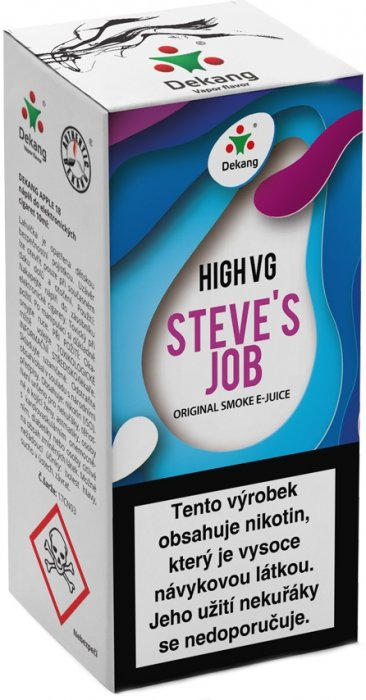 Liquid Dekang High VG Steve´s Job 10ml - 3mg (Sladké a kyselé jablko)