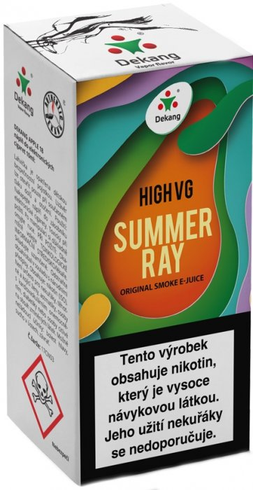 Liquid Dekang High VG Summer Ray 10ml - 1,5mg (Ovocná směs)