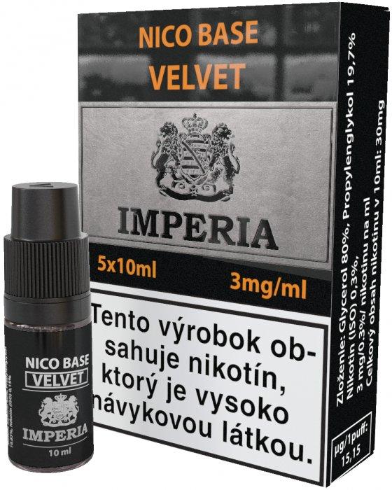 Nikotinová báze SK IMPERIA Velvet 5x10ml PG20-VG80 3mg