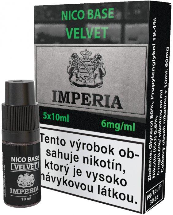 Nikotinová báze SK IMPERIA Velvet 5x10ml PG20-VG80 6mg