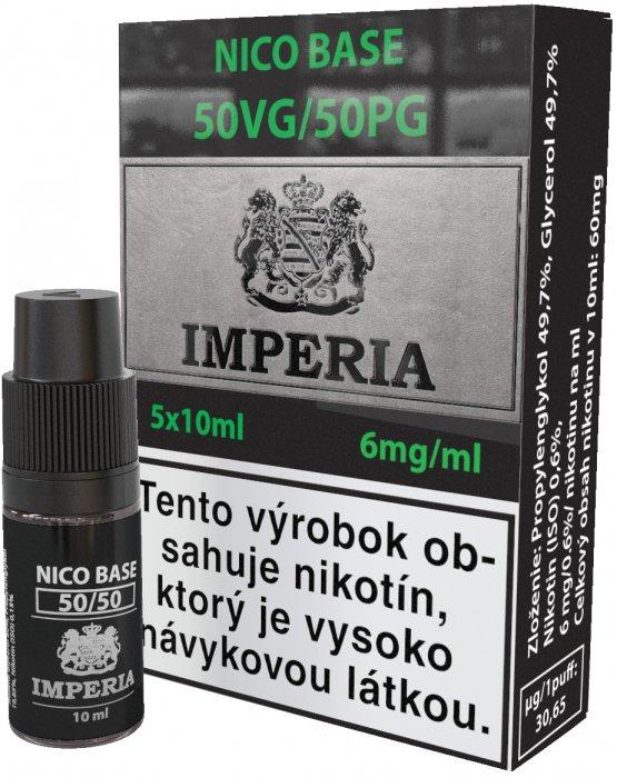 Nikotinová báze SK IMPERIA 5x10ml PG50-VG50 6mg