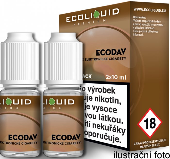 Liquid Ecoliquid Premium 2Pack ECODAV 2x10ml - 18mg
