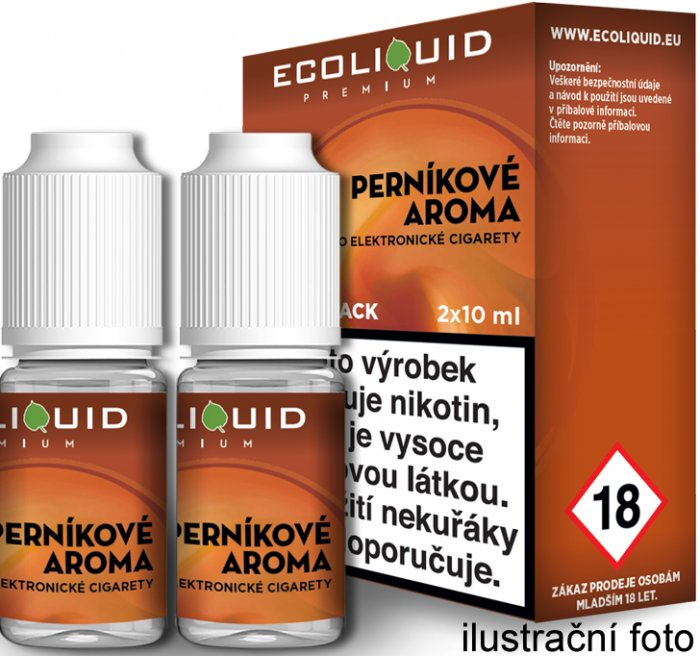 Liquid Ecoliquid Premium 2Pack Gingerbread tobacco 2x10ml - 20mg (Perníkový tabák)