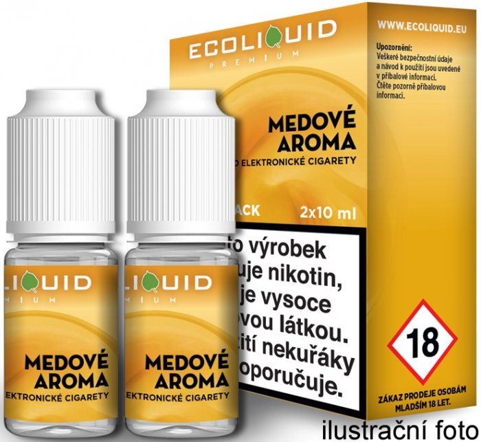 Liquid Ecoliquid Premium 2Pack Honey 2x10ml - 20mg (Med)