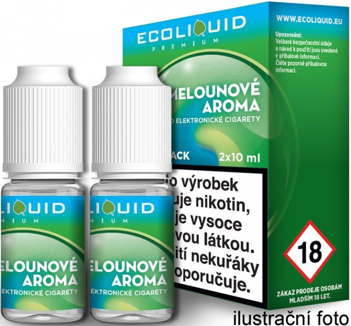 Liquid Ecoliquid Premium 2Pack ICE Melon 2x10ml - 12mg (Svěží meloun)