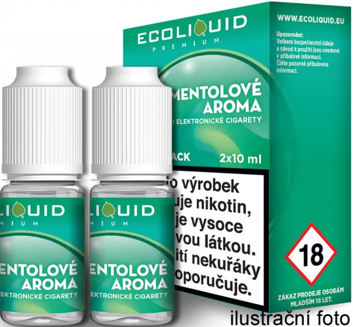 Liquid Ecoliquid Premium 2Pack Menthol 2x10ml - 0mg