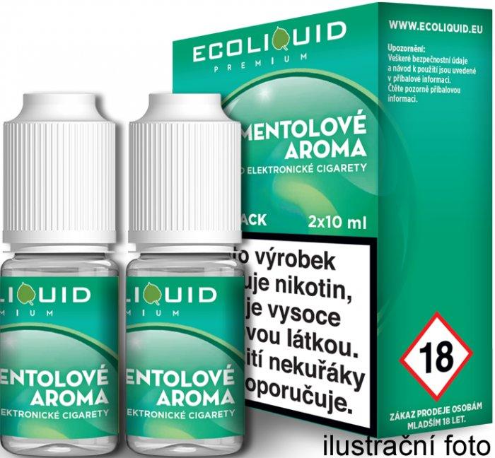 Liquid Ecoliquid Premium 2Pack Menthol 2x10ml - 12mg