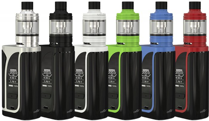 iSmoka-Eleaf iKuun i200 grip 4600mAh Full Kit D25 Black