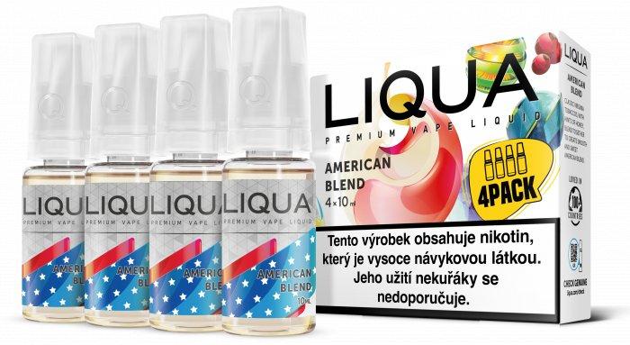 Liquid LIQUA CZ Elements 4Pack American Blend 4x10ml-12mg (Americký míchaný tabák)