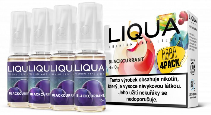 Liquid LIQUA CZ Elements 4Pack Blackcurrant 4x10ml-6mg (černý rybíz)
