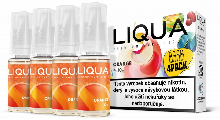 Liquid LIQUA CZ Elements 4Pack Orange 4x10ml-6mg (Pomeranč)
