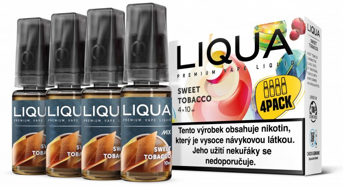 Liquid LIQUA CZ MIX 4Pack Sweet Tobacco 10ml-6mg