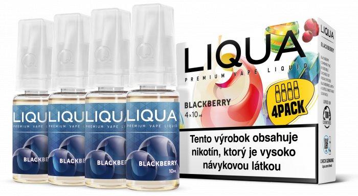 Liquid LIQUA SK Elements 4Pack Blackberry 4x10ml-3mg (ostružina)