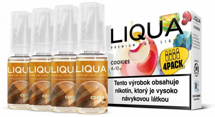 Liquid LIQUA SK Elements 4Pack Cookies 4x10ml-6mg (Sušenka)
