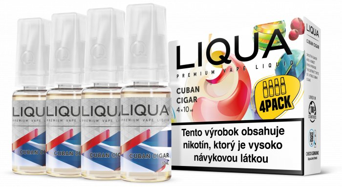 Liquid LIQUA SK Elements 4Pack Cuban Cigar tobacco 4x10ml-6mg (Kubánský doutník)