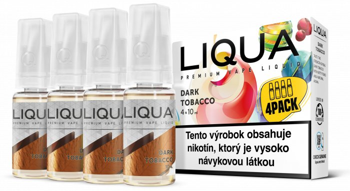 Liquid LIQUA SK Elements 4Pack Dark tobacco 4x10ml-3mg (Silný tabák)