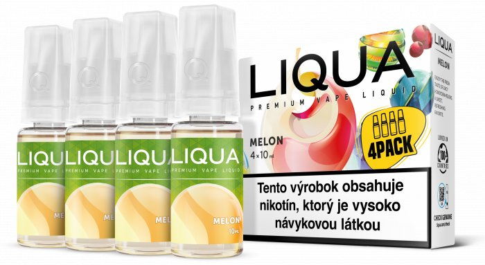 Liquid LIQUA SK Elements 4Pack Melon 4x10ml-3mg (Žlutý meloun)