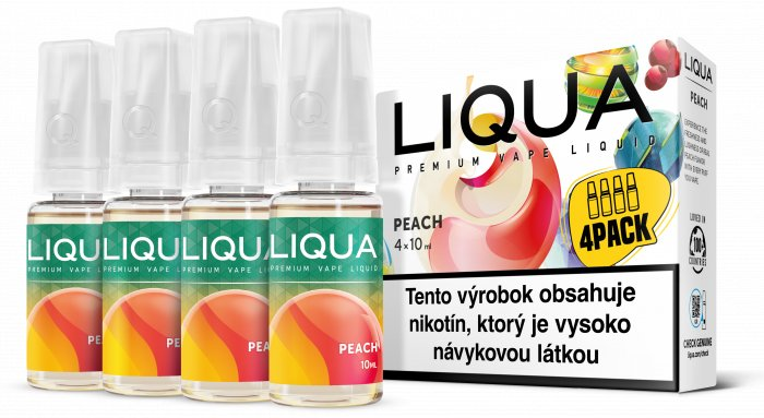 Liquid LIQUA SK Elements 4Pack Peach 4x10ml-3mg (Broskev)