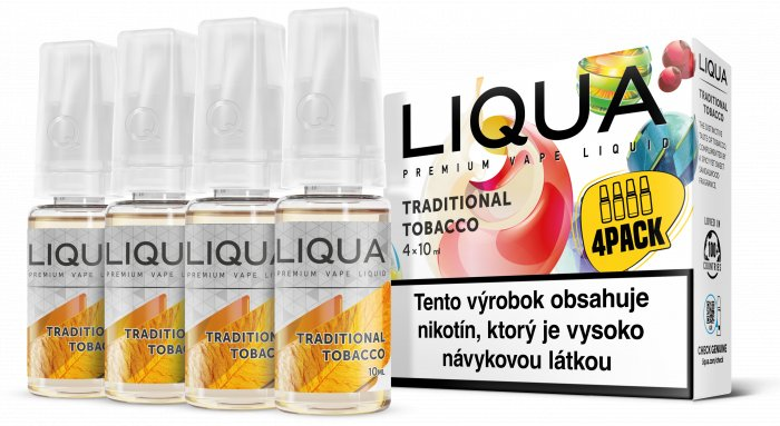Liquid LIQUA SK Elements 4Pack Traditional tobacco 4x10ml-3mg (Tradiční tabák)