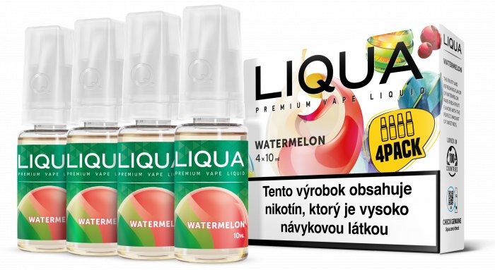 Liquid LIQUA SK Elements 4Pack Watermelon 4x10ml-3mg (Vodní meloun)