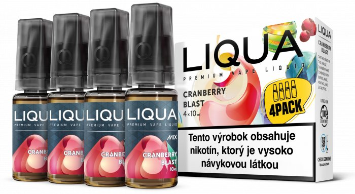 Liquid LIQUA SK MIX 4Pack Cranberry Blast 10ml-3mg