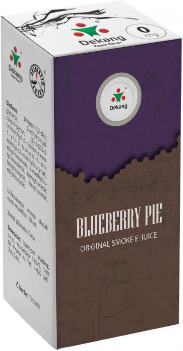 Liquid Dekang Blueberry Pie 10ml - 0mg (Borůvkový koláč)