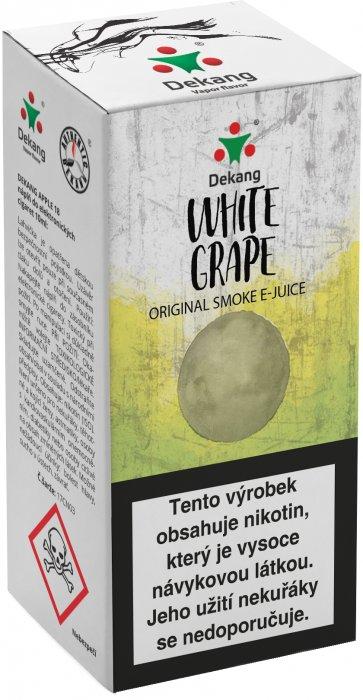Liquid Dekang White Grape 10ml - 11mg (Hroznové bílé víno)