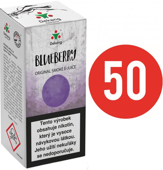 Liquid Dekang Fifty Blueberry 10ml - 6mg (Borůvka)