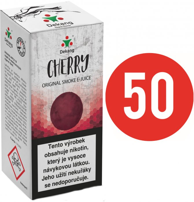 Liquid Dekang Fifty Cherry 10ml - 11mg (Třešeň)
