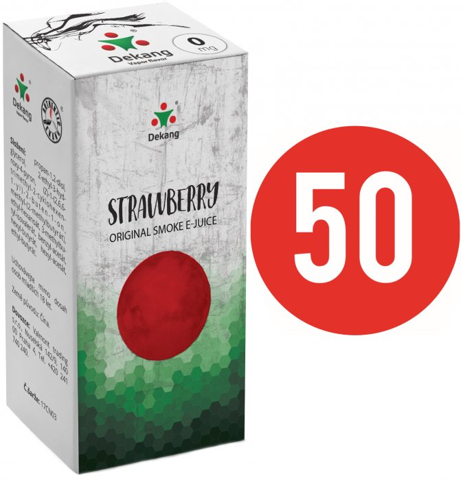 Liquid Dekang Fifty Strawberry 10ml - 0mg (Jahoda)