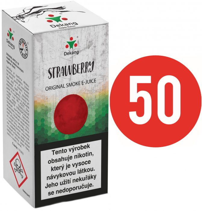 Liquid Dekang Fifty Strawberry 10ml - 16mg (Jahoda)